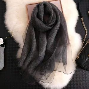 Accessories - Wool and silk scarf